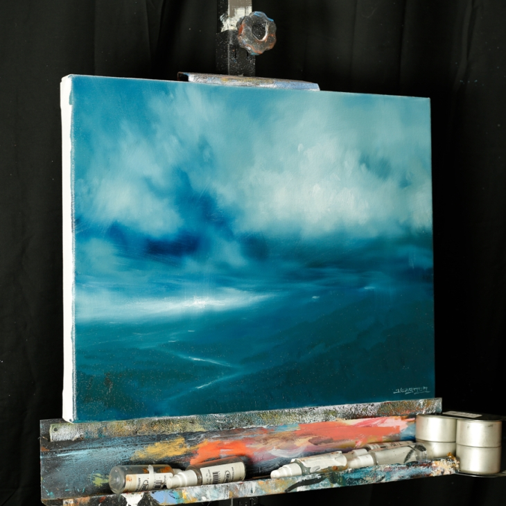 Storm cloud study - 16 X 20 - Oil on Canvas
